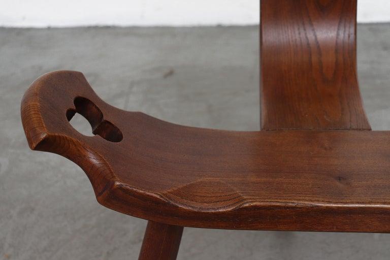 Brutalist Wood Lounge Chair 2