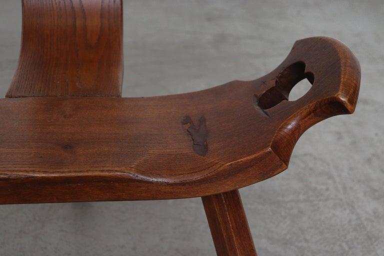 Brutalist Wood Lounge Chair 3