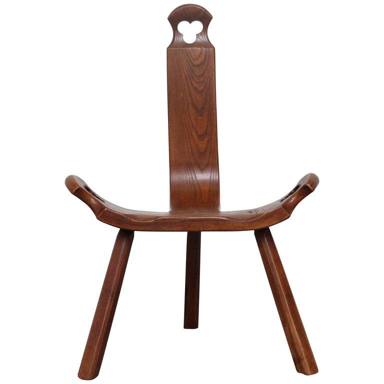 Brutalist Wood Lounge Chair