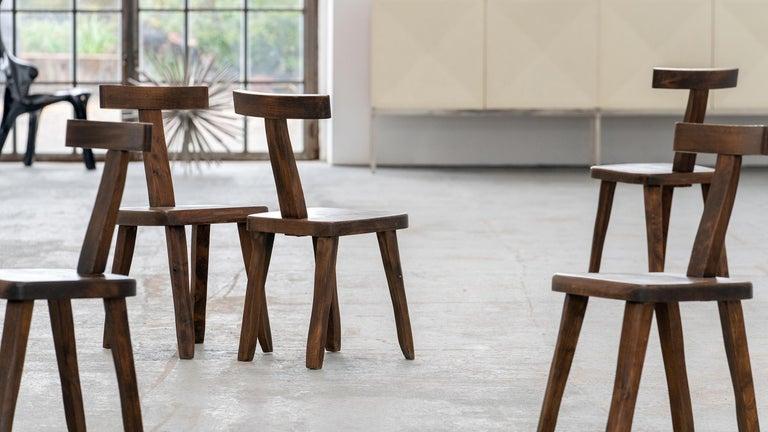 Brutalistic & Minimalistic T- Chair by Olavi Hänninen, 1958 for Mikko Nupponen For Sale 7