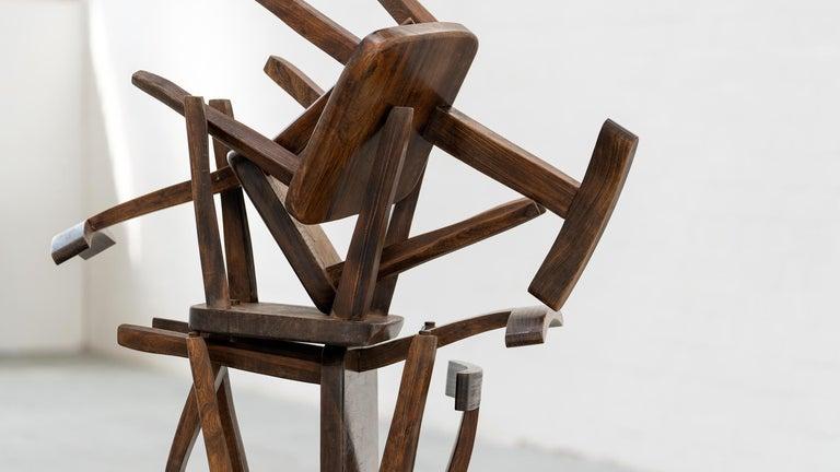 Brutalistic & Minimalistic T- Chair by Olavi Hänninen, 1958 for Mikko Nupponen For Sale 8