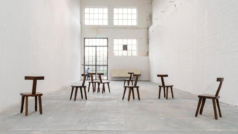 Brutalistic & Minimalistic T- Chair by Olavi Hänninen, 1958 for Mikko Nupponen For Sale 11