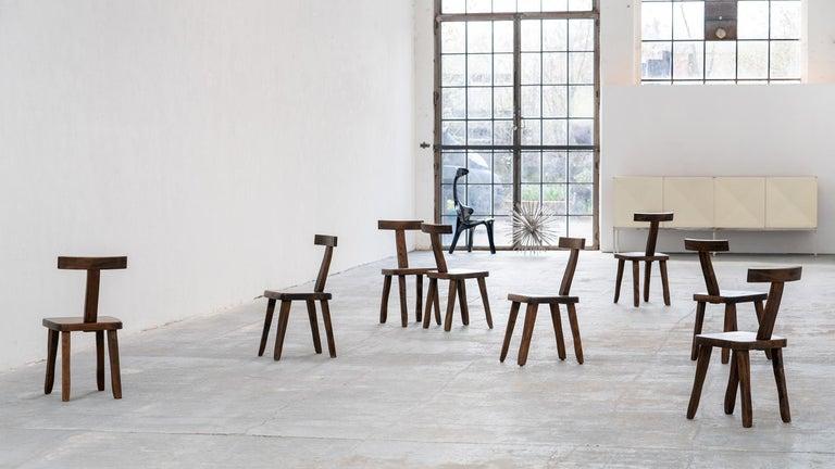 Brutalistic & Minimalistic T- Chair by Olavi Hänninen, 1958 for Mikko Nupponen For Sale 12