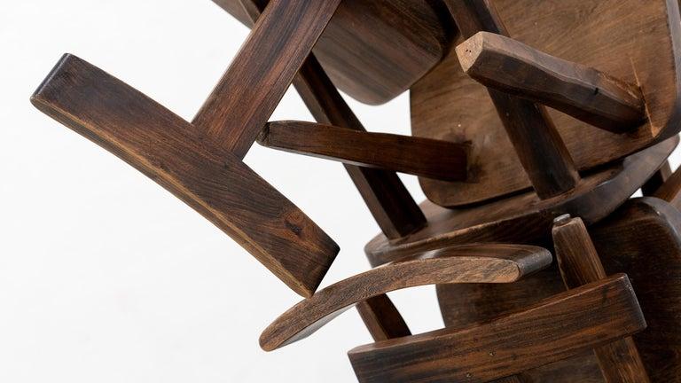 Brutalistic & Minimalistic T- Chair by Olavi Hänninen, 1958 for Mikko Nupponen For Sale 13