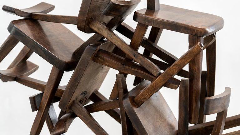 Brutalistic & Minimalistic T- Chair by Olavi Hänninen, 1958 for Mikko Nupponen For Sale 14