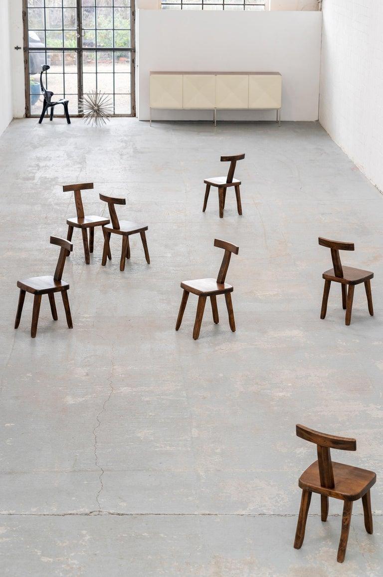 Elm Brutalistic & Minimalistic T- Chair by Olavi Hänninen, 1958 for Mikko Nupponen For Sale