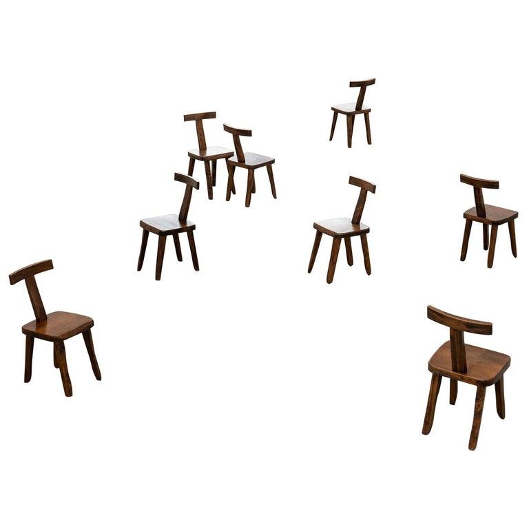 Brutalistic & Minimalistic T- Chair by Olavi Hänninen, 1958 for Mikko Nupponen For Sale