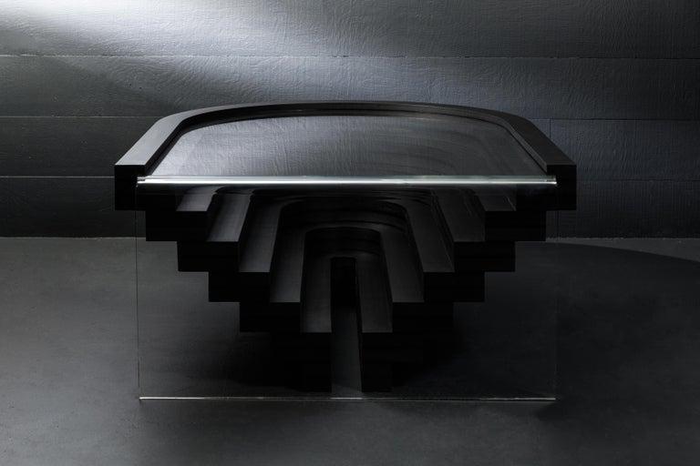 Other Brutiful U&I Coffee Table, Geometric Coffee Table by Birnam Wood Studio For Sale