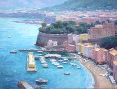 """Grand Overlook, Sorrento"" Modern Impressionist Oil by Bryan Mark Taylor"