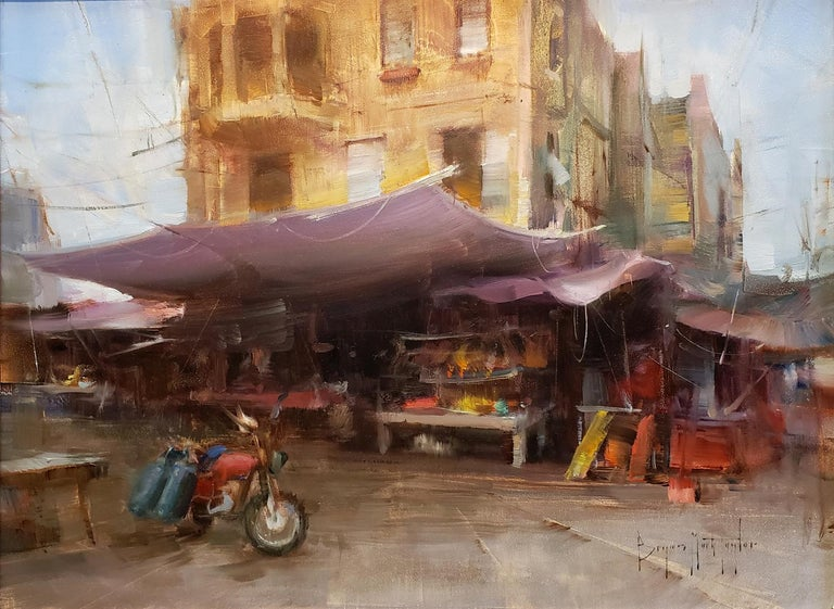 Market Day - Impressionist Painting by Bryan Mark Taylor