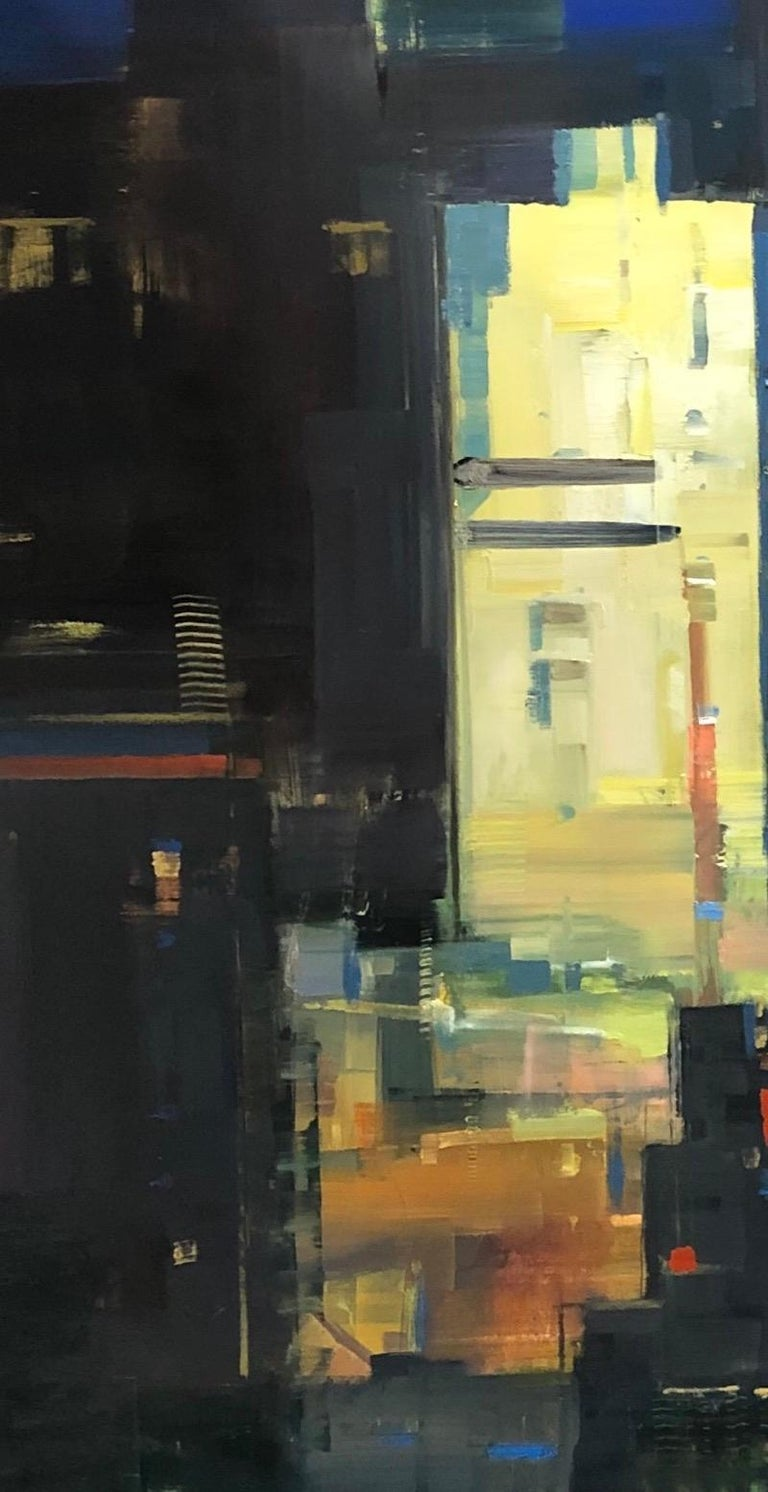 Modern Abstract Impressionist Cityscape