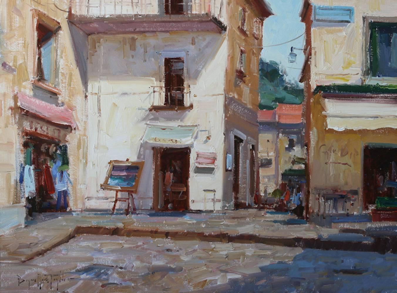 "Modern Impressionist Amalfi Cityscape ""Corner Shop"" Oil by Bryan Mark Taylor"