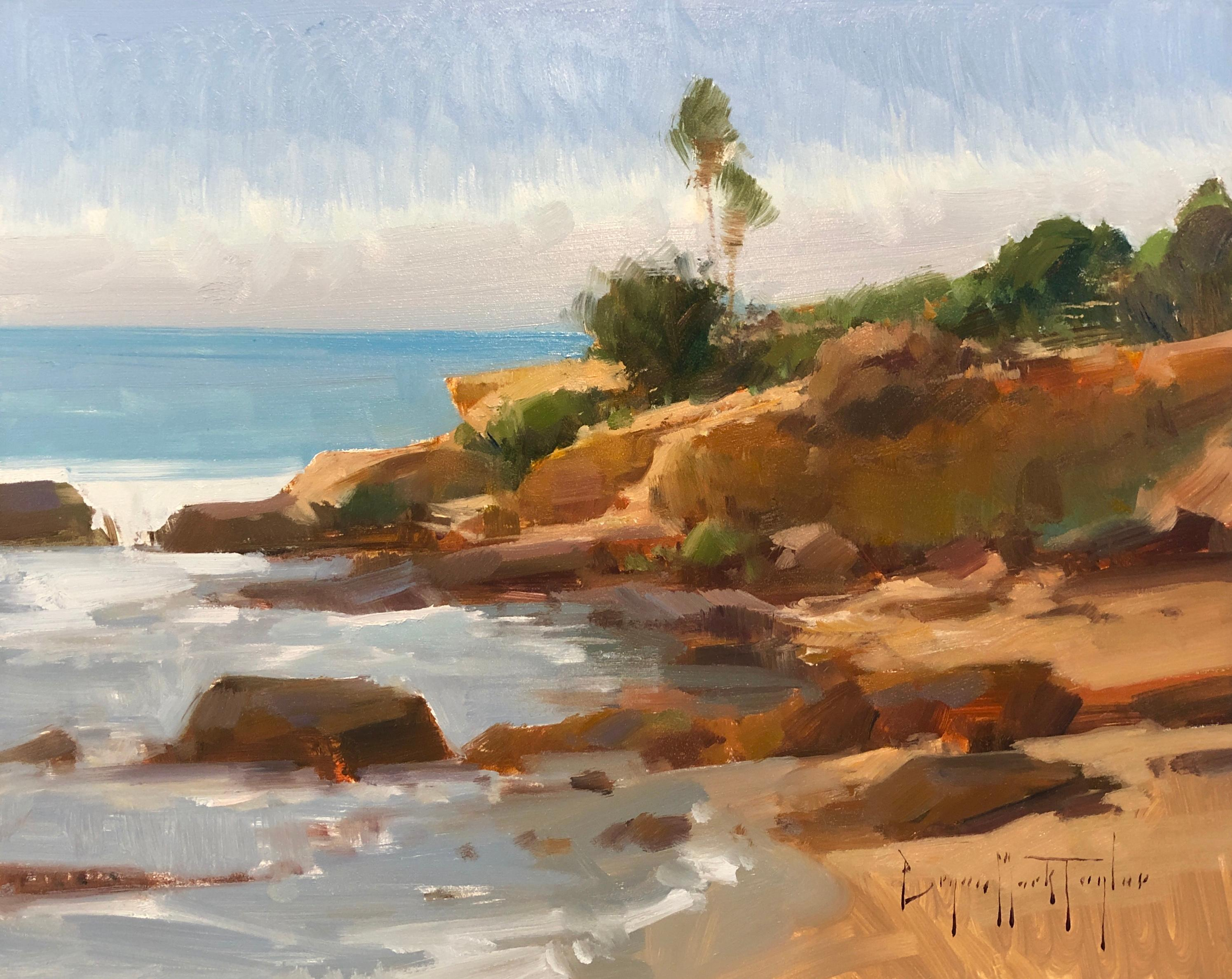 """Modern Impressionist California Seascape """"Low Tide Afternoon"""""""