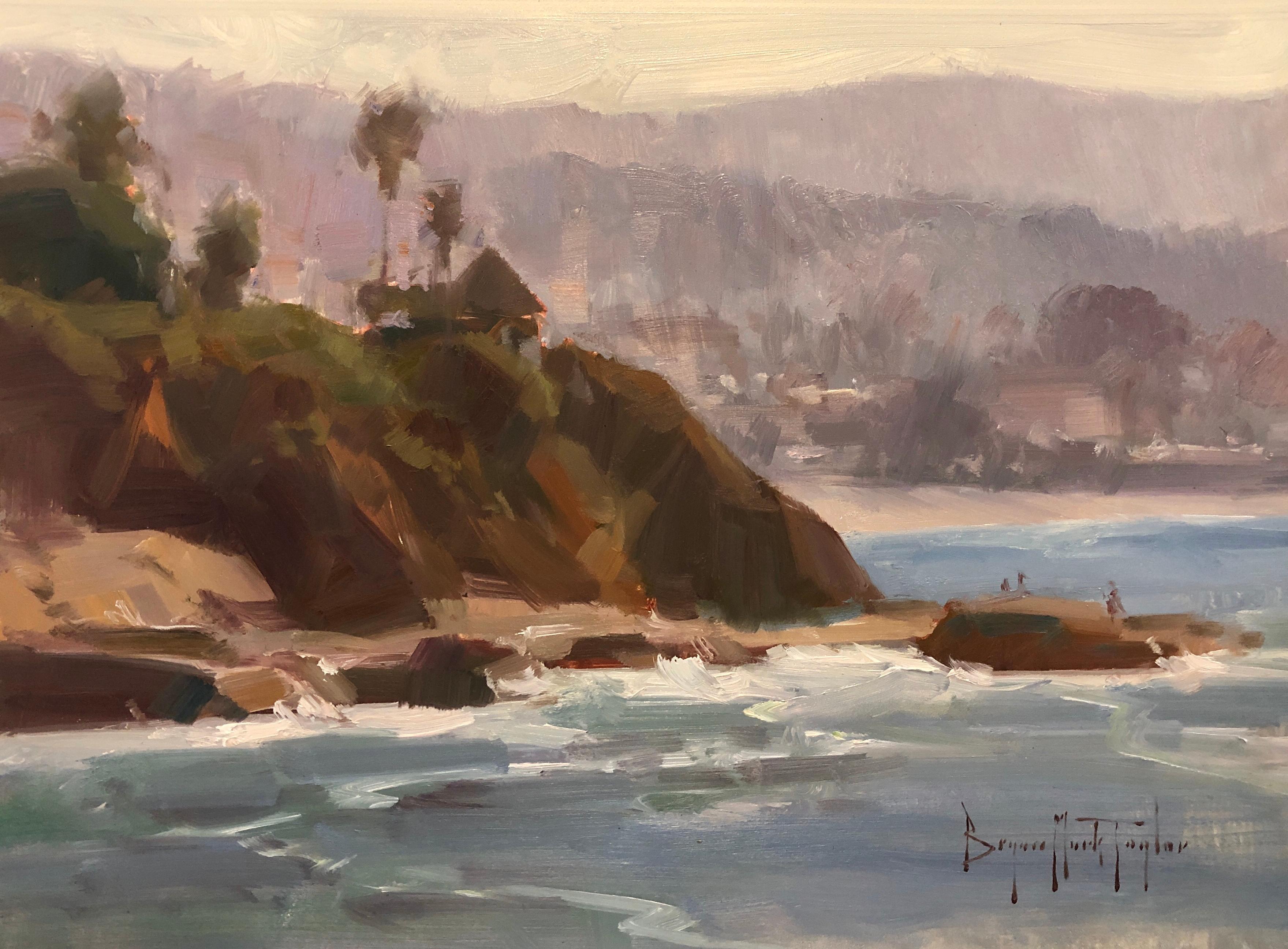 "Modern Impressionist California Seascape ""Morning At Main Beach"""""