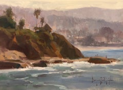 "Modern Impressionist California Seascape ""Morning At Main Beach"""""