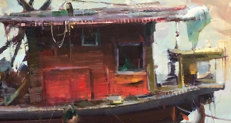 Modern Impressionist China River Scene