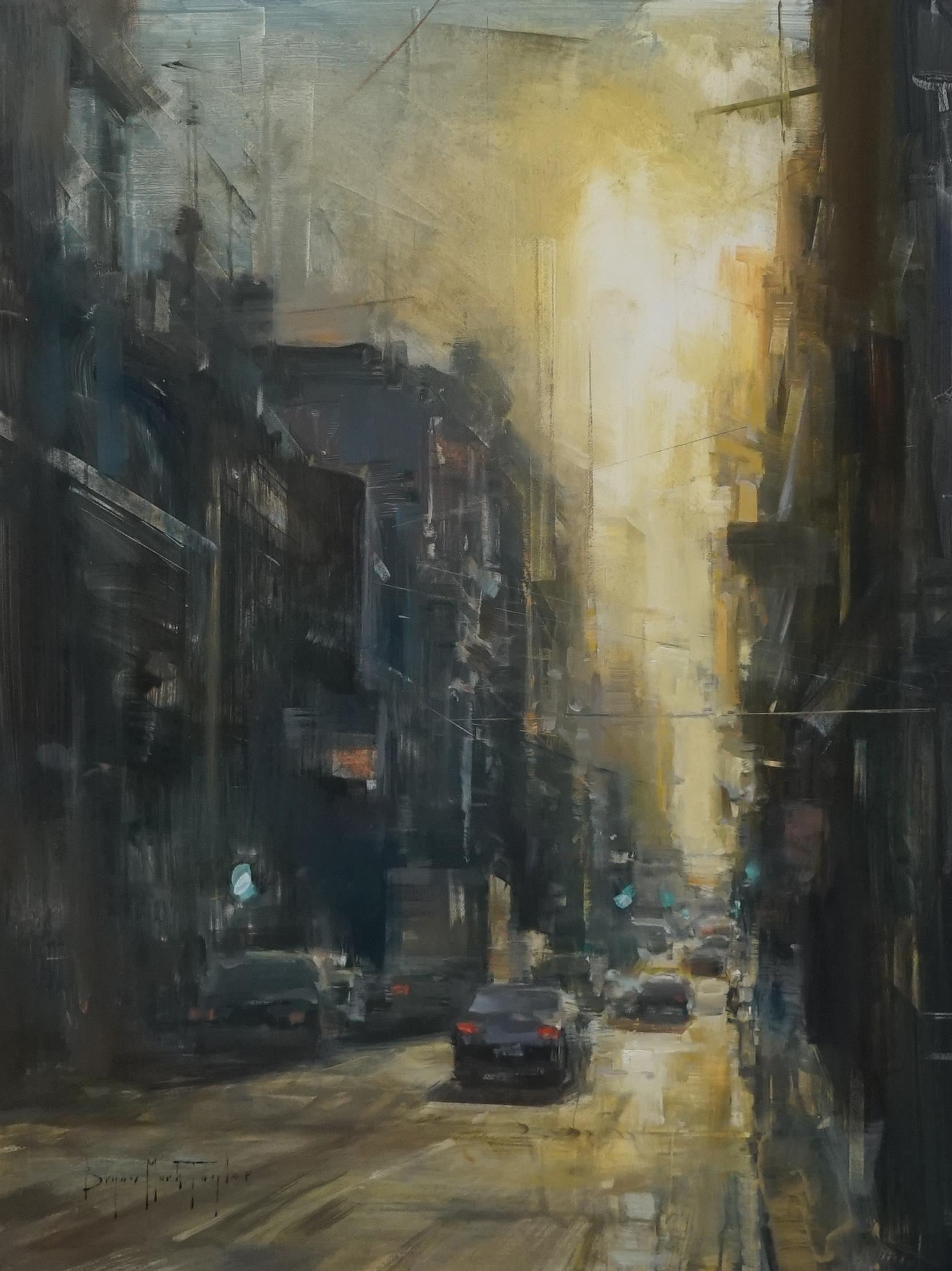 "Modern Impressionist Cityscape ""Cuban Sunset"" Oil by Bryan Mark Taylor"