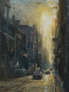 "Modern Impressionist Cityscape ""Cuban Sunset"" Oil by Bryan Mark Taylor"