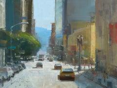 "Modern Impressionist Cityscape ""Morning Commute"" Plein Air Oil"