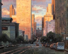 "Modern Impressionist Cityscape ""San Francisco Sunset"" Oil by Bryan Mark Taylor"