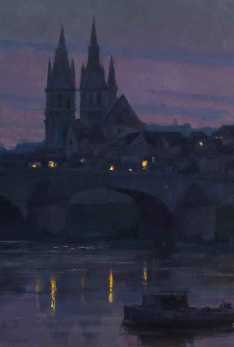 Modern Impressionist French Landscape oil