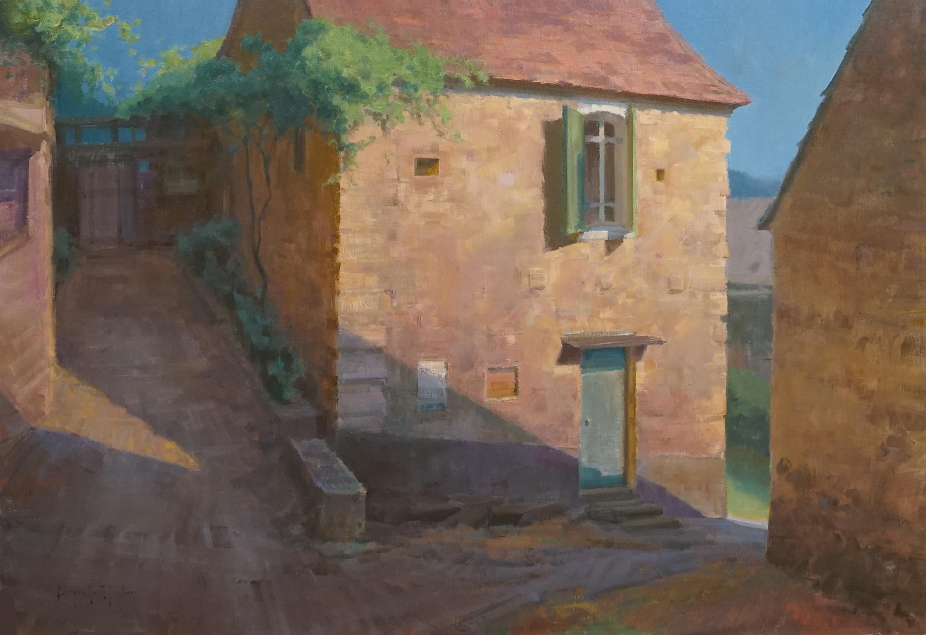 "Modern Impressionist French Plein air Landscape oil ""By Summer Light"""