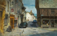 "Modern Impressionist French Plein air Landscape oil ""Village of The Loire Valley"