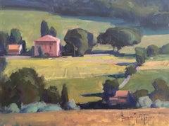 "Modern Impressionist Italy Scene ""Italian Countryside"" Oil by Bryan Mark Taylor"