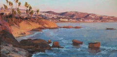 "Modern Impressionist Seascape ""Sunset From Flag Point"" Oil by Bryan Mark Taylor"