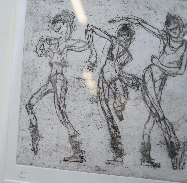 """We are delighted to offer for sale this original Bryan Talbot limited edition ballet print number 15 of 40 signed in pencil with the artists name and title of the print """"I can do that but I don't want to""""  Depicting a rather stubborn looking"""