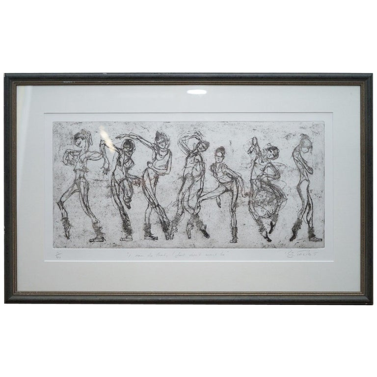"""Bryan Talbot Print 15/40 Ballet Ballerina """"I Can Do That But I Don't Want to"""" For Sale"""