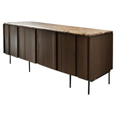 Bryant - 21st Century Designed by Collector Studio Sideboard Brown, Marble