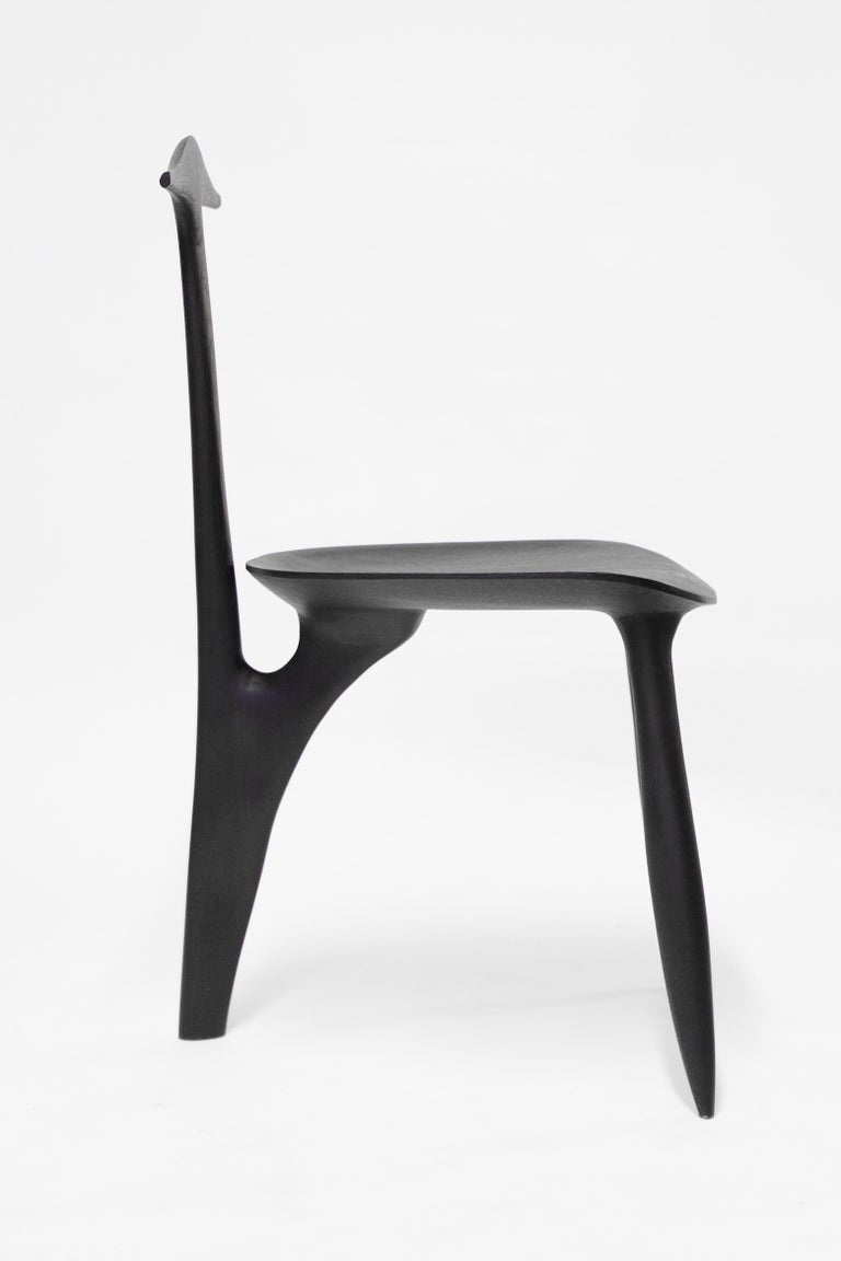 BTRFL Console Desk and Chair, Hand-Sculpted by Cedric Breisacher For Sale 3