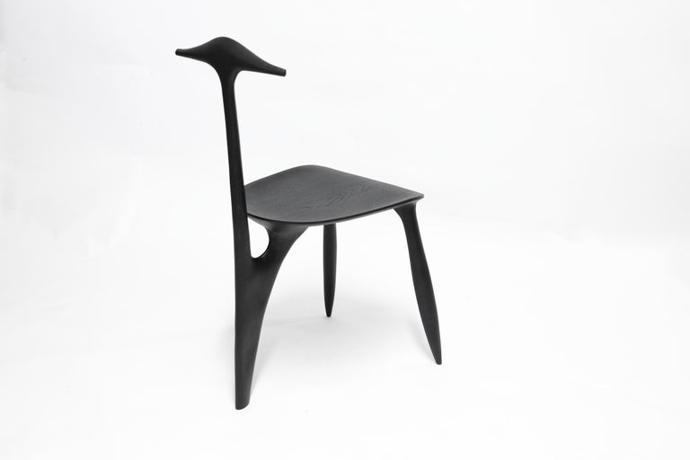 BTRFL Console Desk and Chair, Hand-Sculpted by Cedric Breisacher For Sale 4