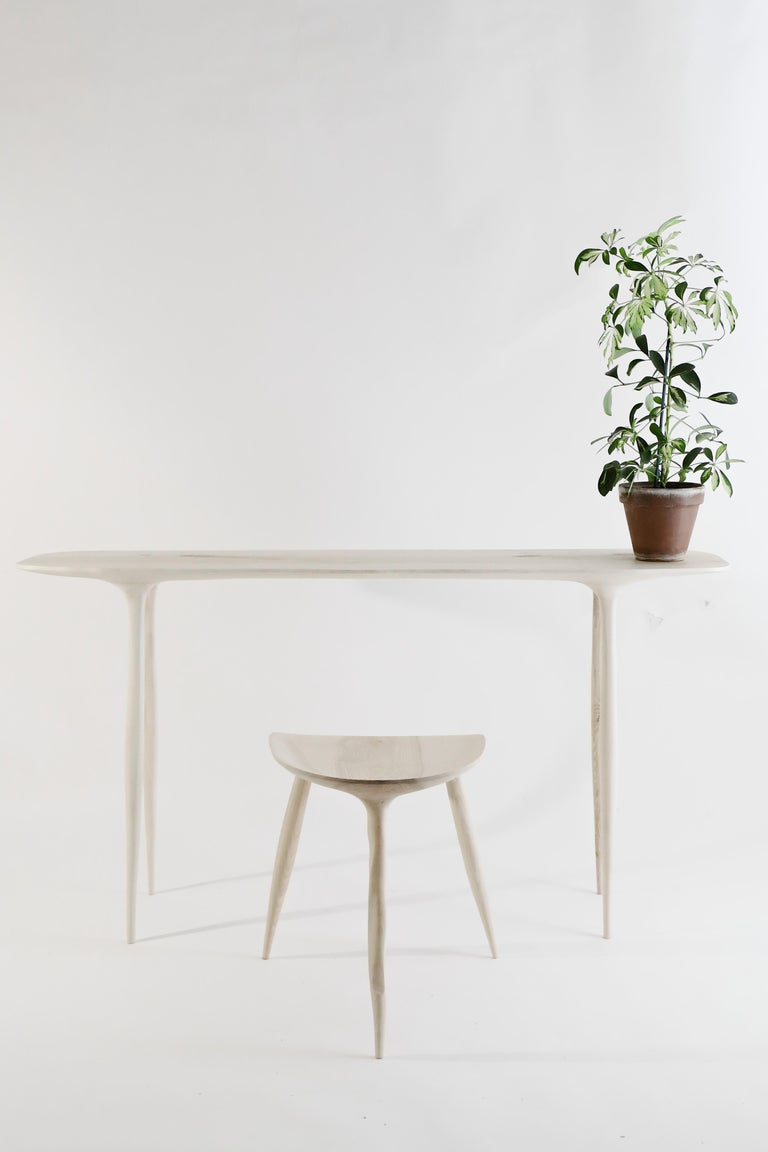 BTRFL Console Desk and Chair, Hand-Sculpted by Cedric Breisacher For Sale 8