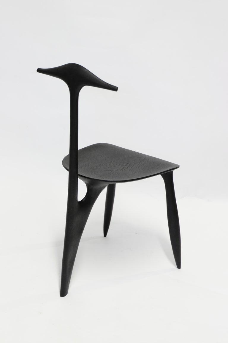 French BTRFL Console Desk and Chair, Hand-Sculpted by Cedric Breisacher For Sale