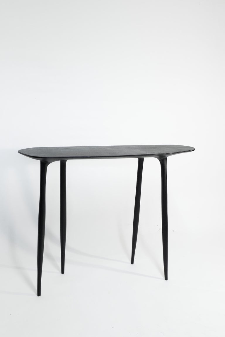Contemporary BTRFL Console Desk and Chair, Hand-Sculpted by Cedric Breisacher For Sale