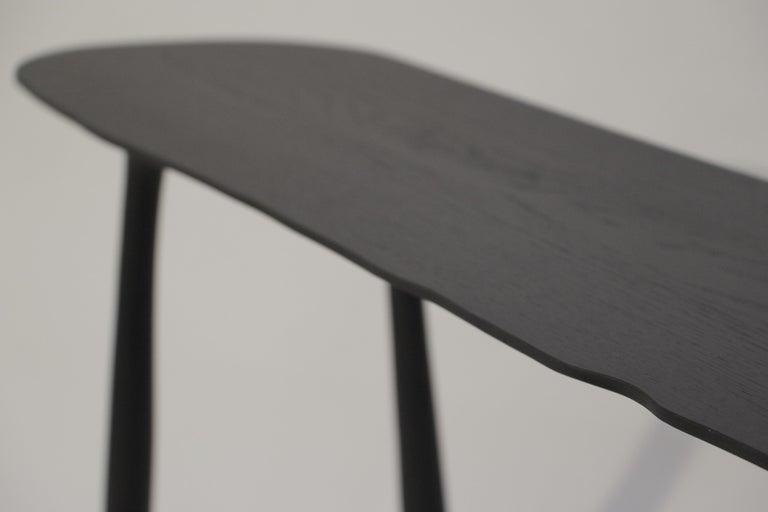 Oak BTRFL Console Desk and Chair, Hand-Sculpted by Cedric Breisacher For Sale