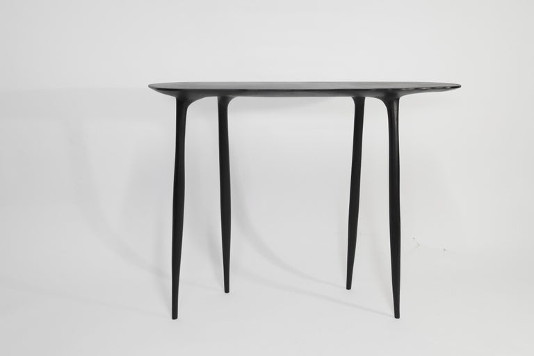 BTRFL Console Desk and Chair, Hand-Sculpted by Cedric Breisacher For Sale 1