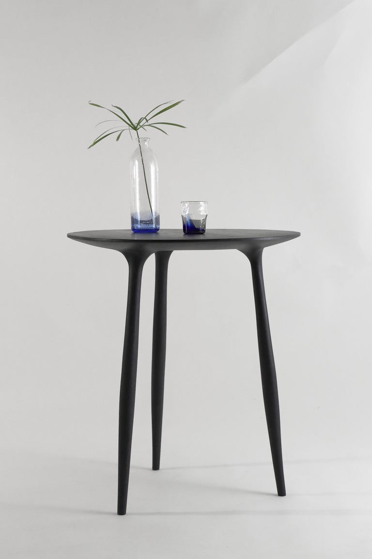 Oak BTRFL Dining Table, Hand-Sculpted and Signed by Cedric Breisacher For Sale