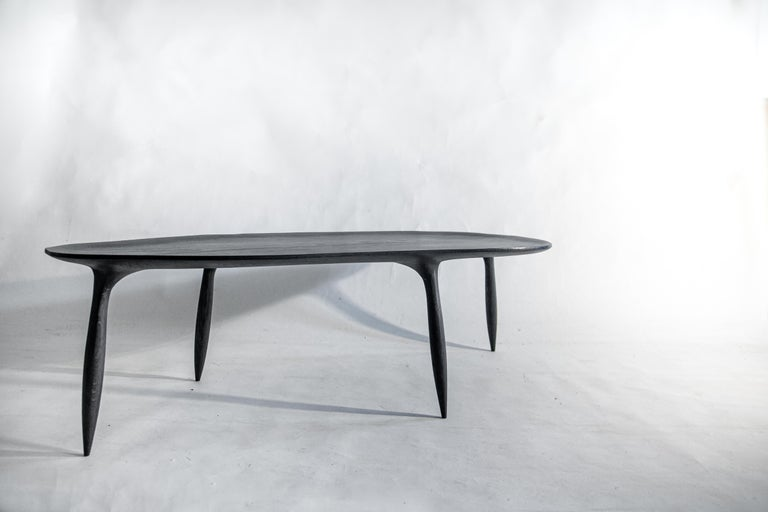 Modern BTRFL Oak Coffee Table by Cedric Breisacher For Sale