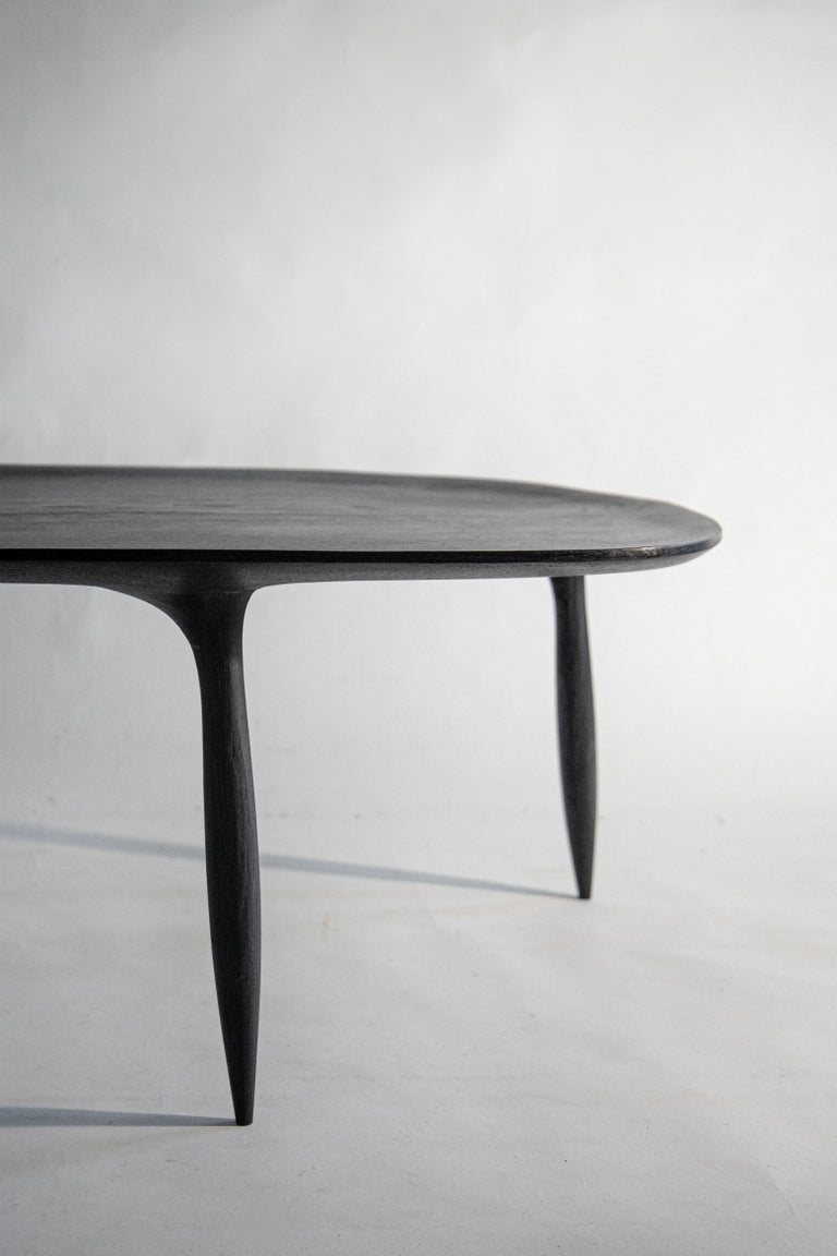 French BTRFL Oak Coffee Table by Cedric Breisacher For Sale