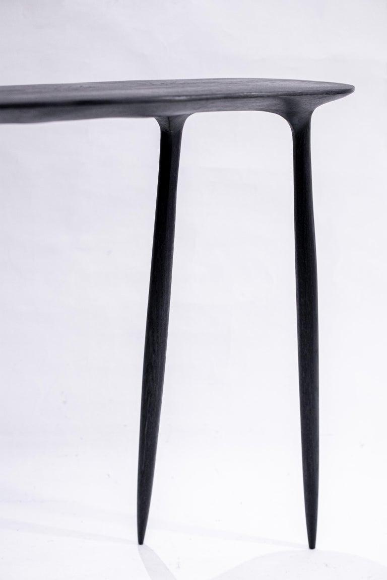 Modern BTRFL Oak Console by Cedric Breisacher For Sale