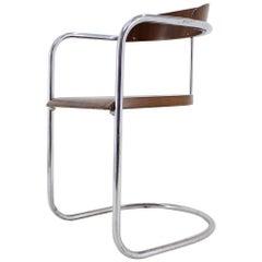 Buahaus Rare Tubular Chrome Chair, Hynek Gottwald, 1930s