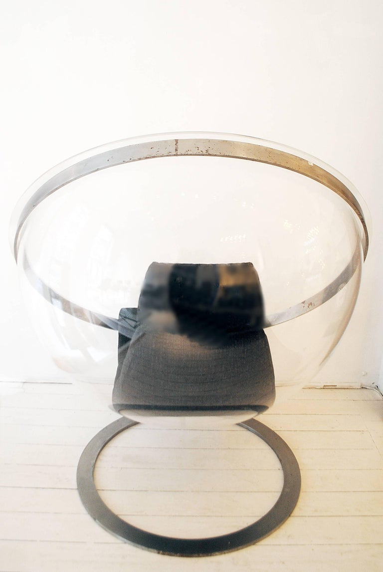 Steel Bubble Chair by Christian Daninos, Laroche Edition, France, 1968 For Sale