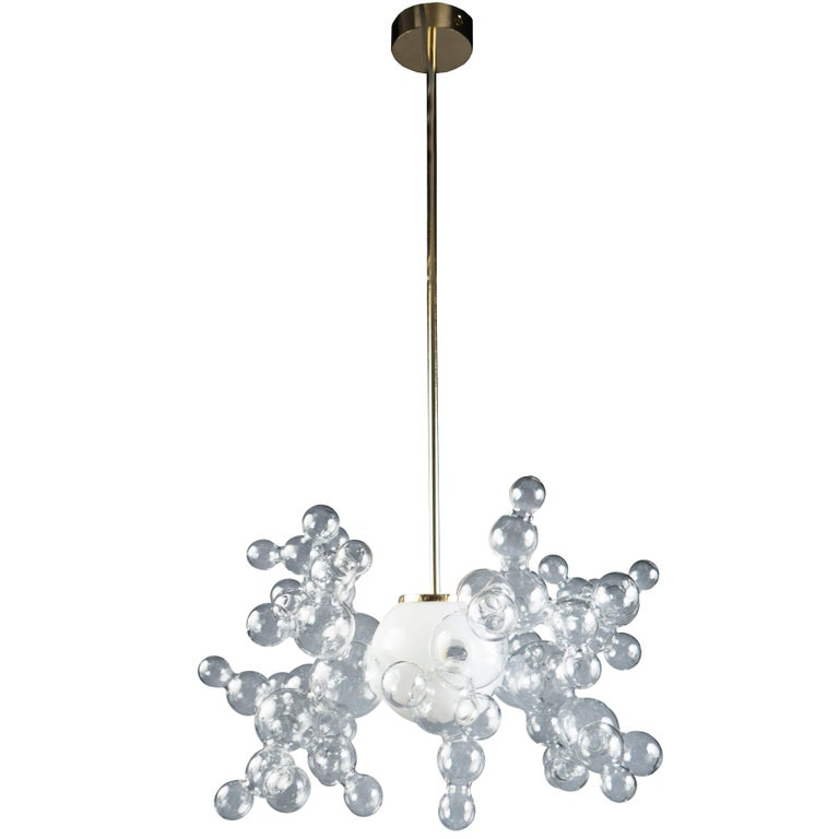 """Bubble"" Chandelier by Simone Crestani, Italy, 2017 For Sale"
