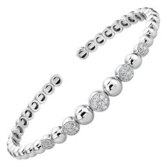 Bubble Diamond Bangle 0.56 Carat Open Diamond Bracelet