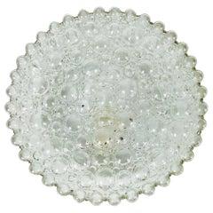 Bubble Glass Round Flush Mount by Glashütte Limburg, 1960s, Germany