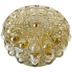 Bubble Glass Round Flush Mount by Philips, 1960s