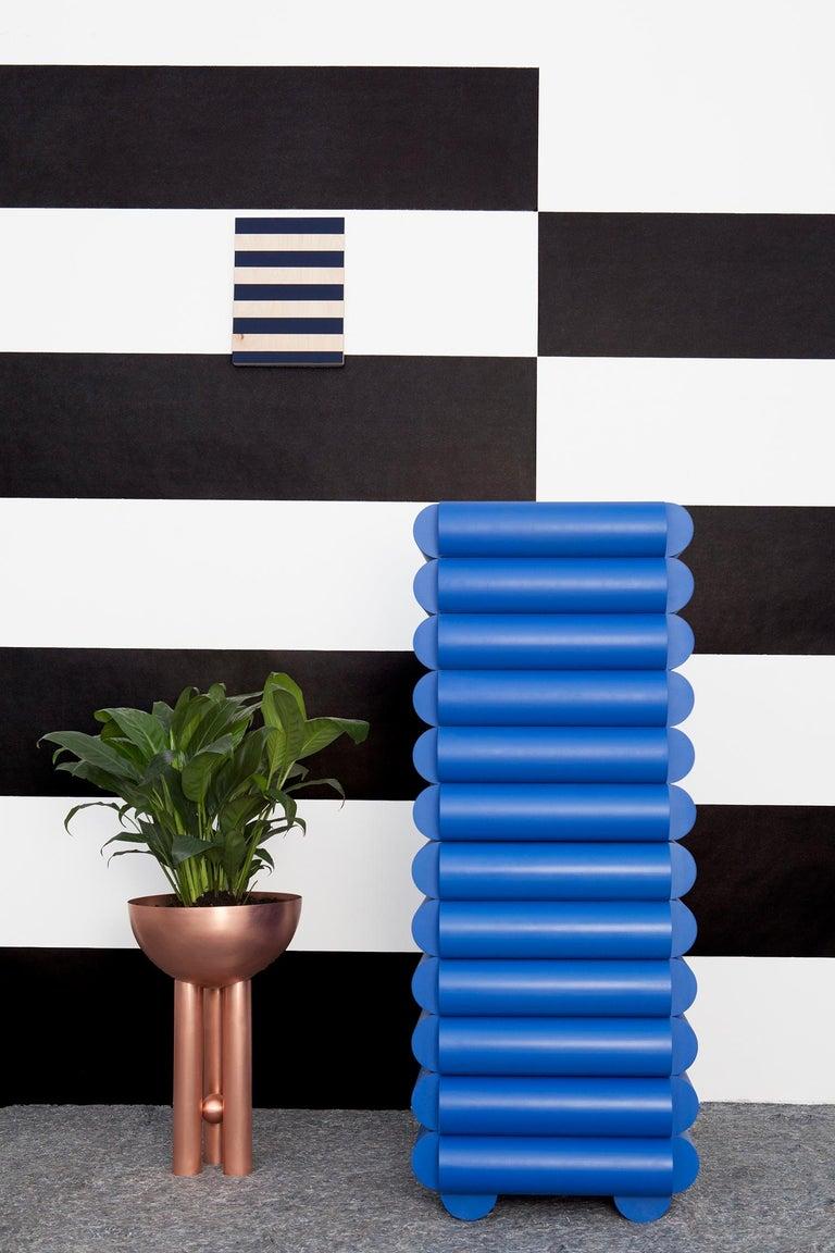 Modern Klein Blue Lacquered Wood Minibar by Steven Bukowski and Hannah Bigeleisen For Sale